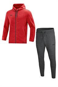 JAKO Joggingpak met Jas met kap Premium Basics m9729-01