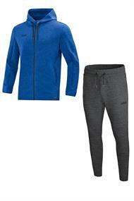 JAKO Joggingpak met Jas met kap Premium Basics m9729-04