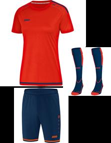 Voetbalset Striker 2.0 KM Dames - Flame Oranje-Navy
