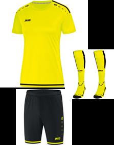 Voetbalset Striker 2.0 KM Dames - Fluorgeel-Zwart