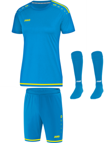 Voetbalset Striker 2.0 KM Dames - JakoBlauw-FluorGeel