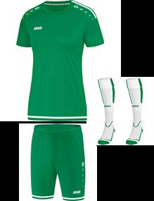 Voetbalset Striker 2.0 KM Dames - Sportgroen-Wit