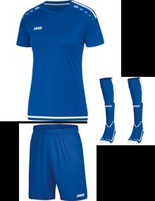 Voetbalset Striker 2.0 KM Dames - Sportroyal Blauw-Wit