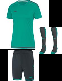Voetbalset Striker 2.0 KM Dames - Turquoise-Antraciet