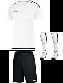 Voetbalset Striker 2.0 KM Dames - Wit-zwart
