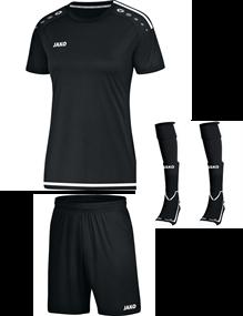 Voetbalset Striker 2.0 KM Dames - Zwart-Wit